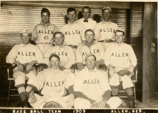 Allen Nebraska baseball 1909 town team